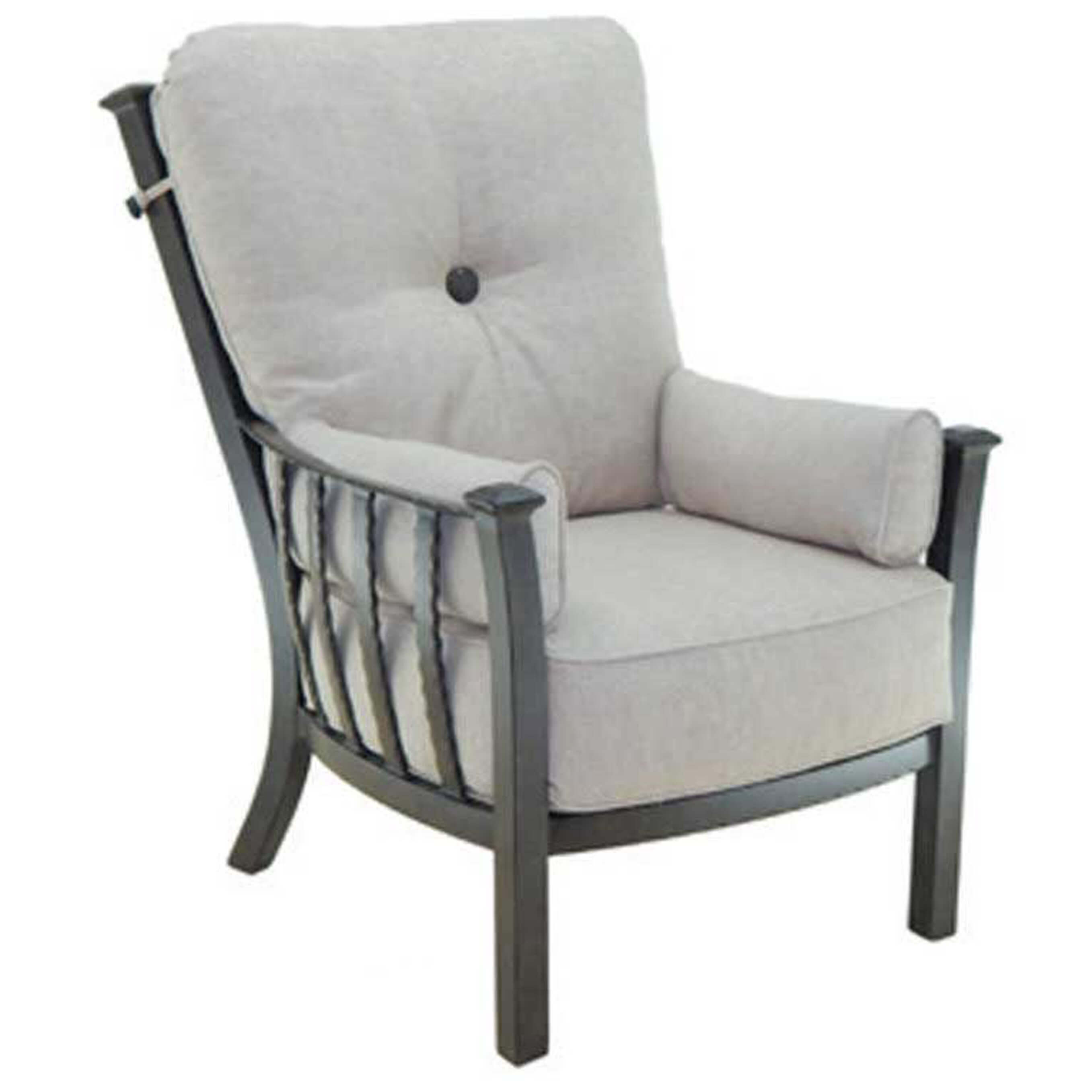 Picture of: Castelle Santa Fe Cushion High Back Lounge Chair Outdoor Furniture Sunnyland Outdoor Patio Furniture Dallas Fort Worth Tx