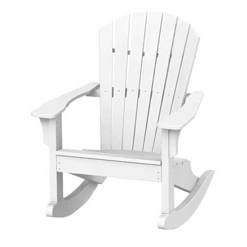 Adirondack Shell Back Rocker   White