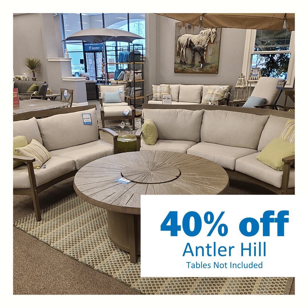 save 30% on Castelle Antler Hill dining