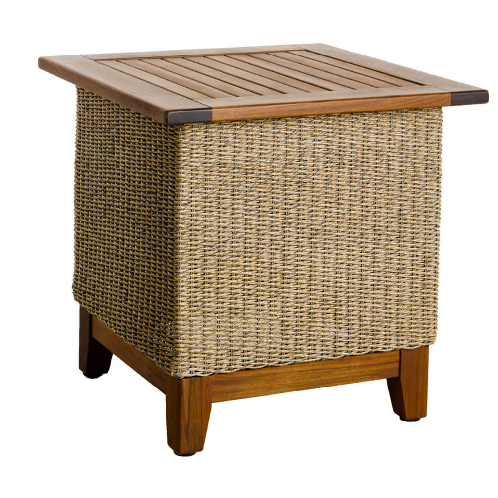 Jensen Leisure Coral Ipe Woven Side Table Outdoor