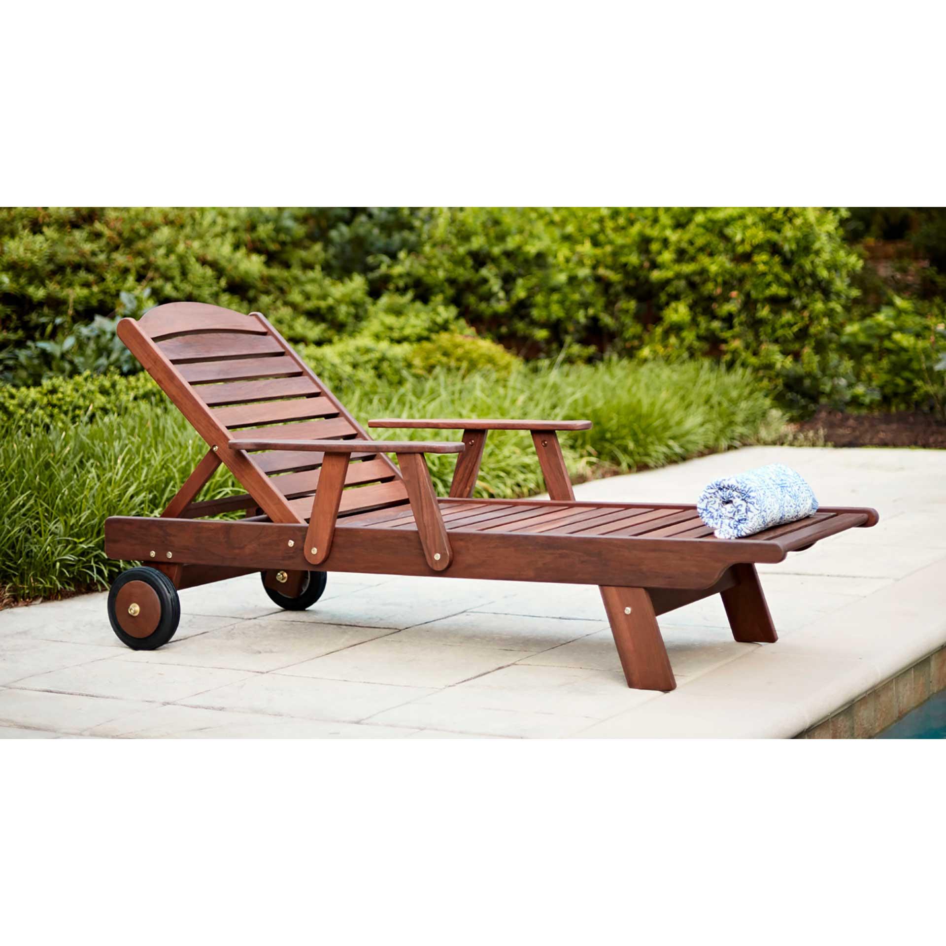 Jensen Leisure Ipe Adirondack Chair Outdoor Furniture