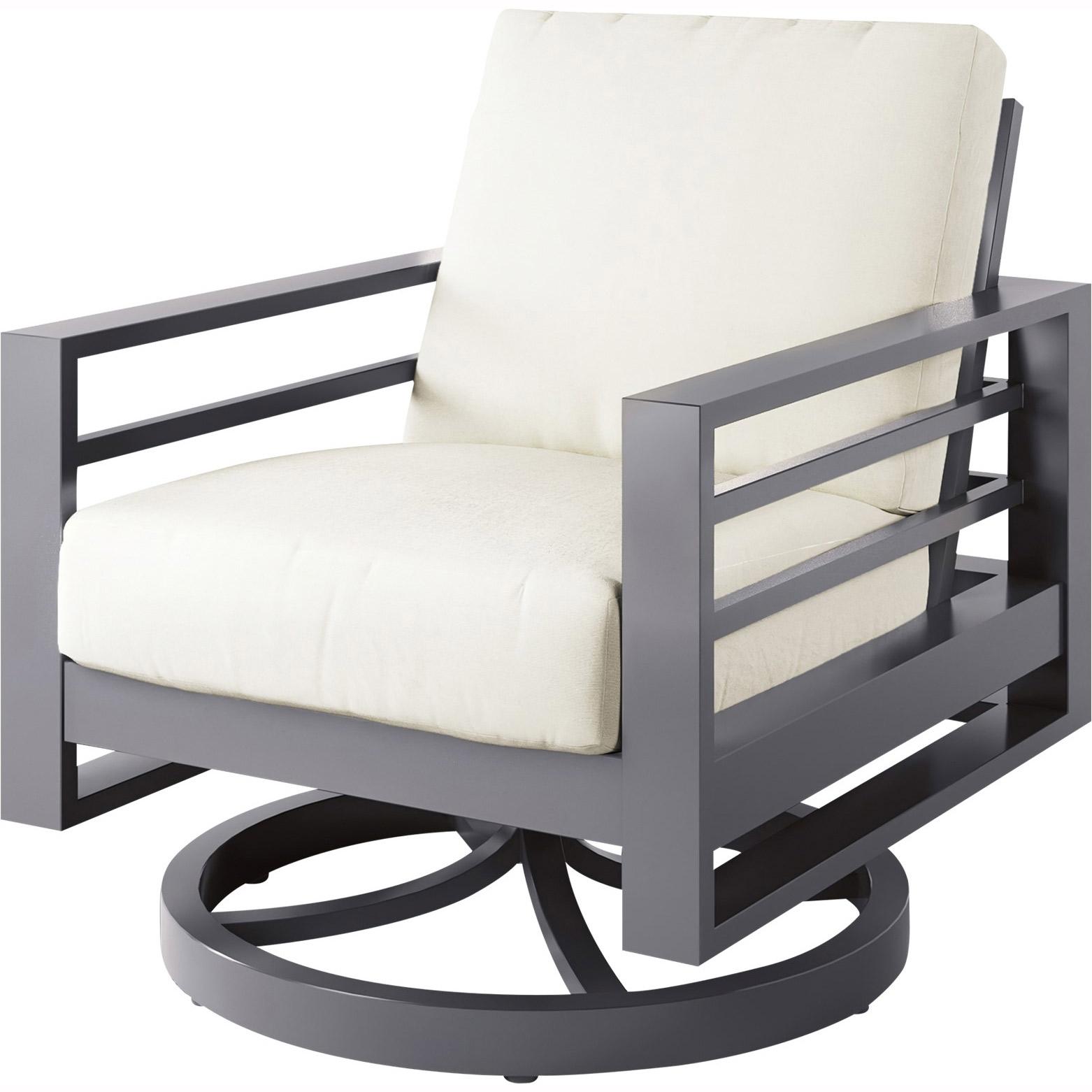 Ebel Palermo Cushion Highback Swivel Club Chair Outdoor