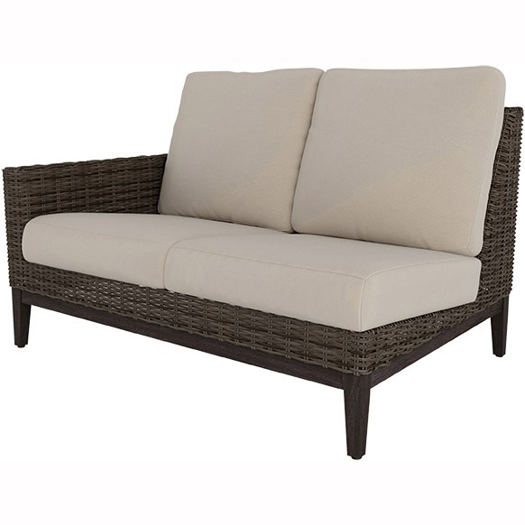 Ebel Remy Woven Cushion Right Arm Loveseat Outdoor