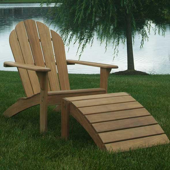 Three Birds Casual Teak Adirondack Chair Outdoor Furniture