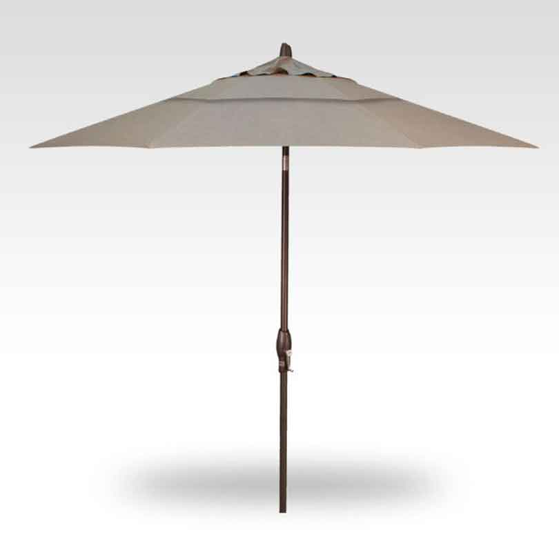 9' Auto Tilt Market Umbrella - Cast Ash