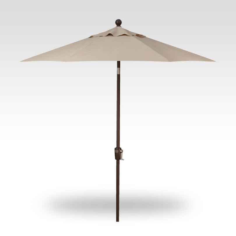 7.5' Push Button Tilt Market Umbrella - Antique Beige