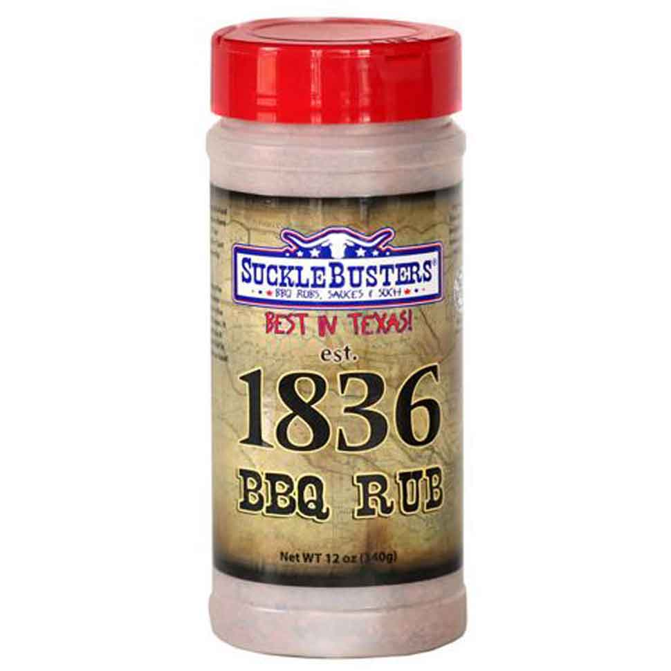 Suckle Busters 1836 BBQ Rub 12 oz