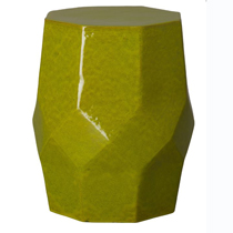 Green Octagon Matrix Stool