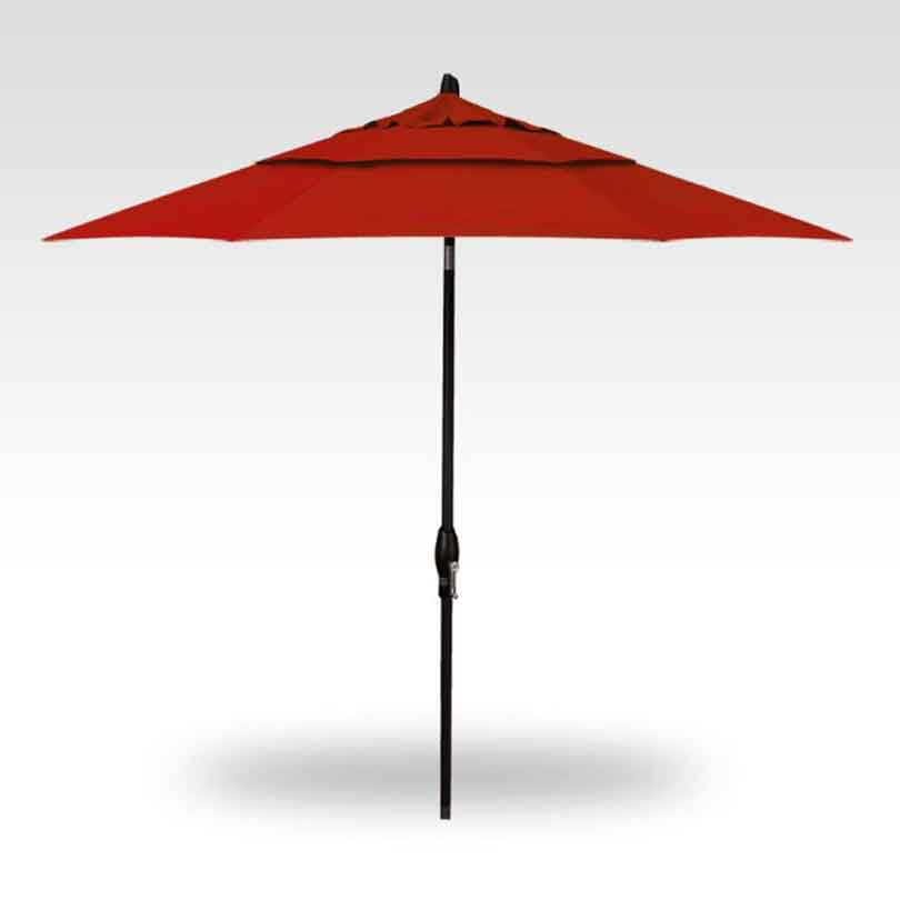 9' Auto Tilt Market Umbrella - Jockey Red
