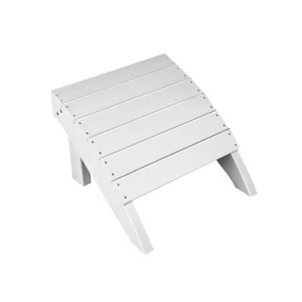 Adirondack Foot Stool - White