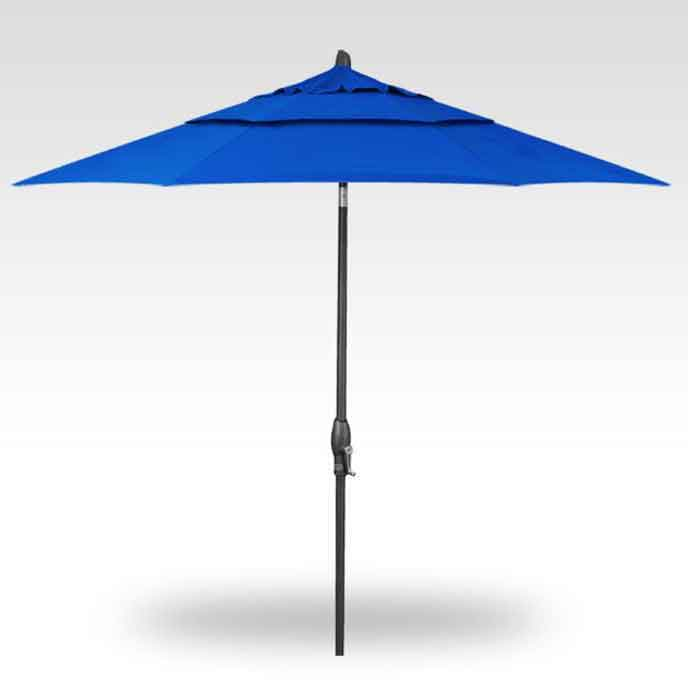 7.5' Push Button Tilt Market Umbrella - Pacific Blue