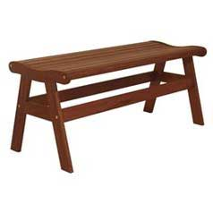 IPE Amber Backless Bench
