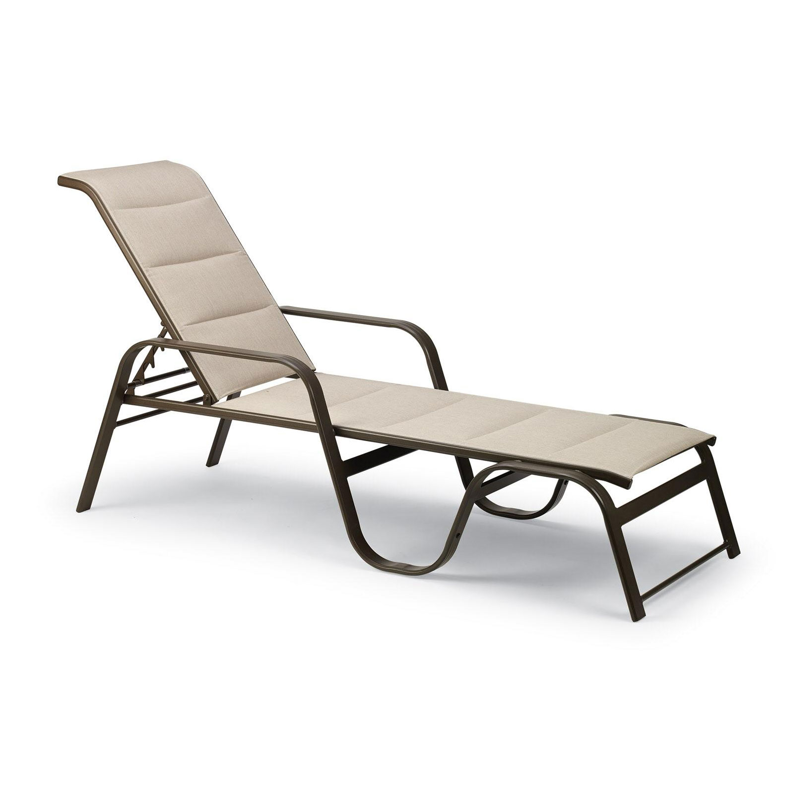 Key West Padded Sling Stacking Chaise