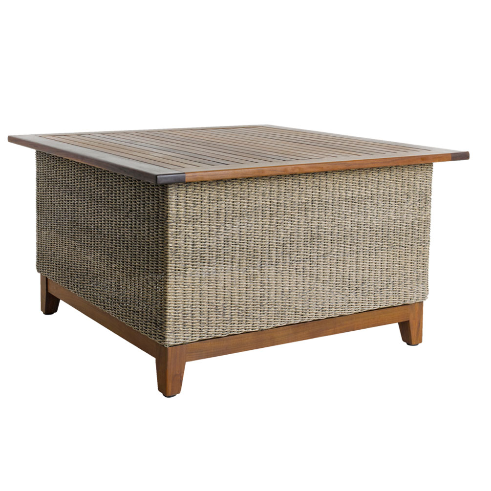 Coral IPE Woven Chat Table