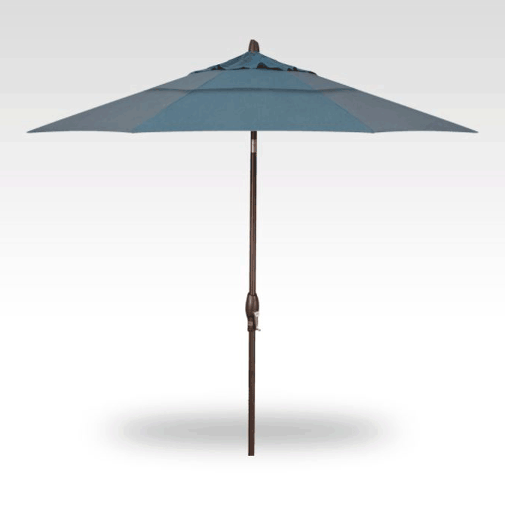 9' Auto Tilt Market Umbrella - Cast Lagoon