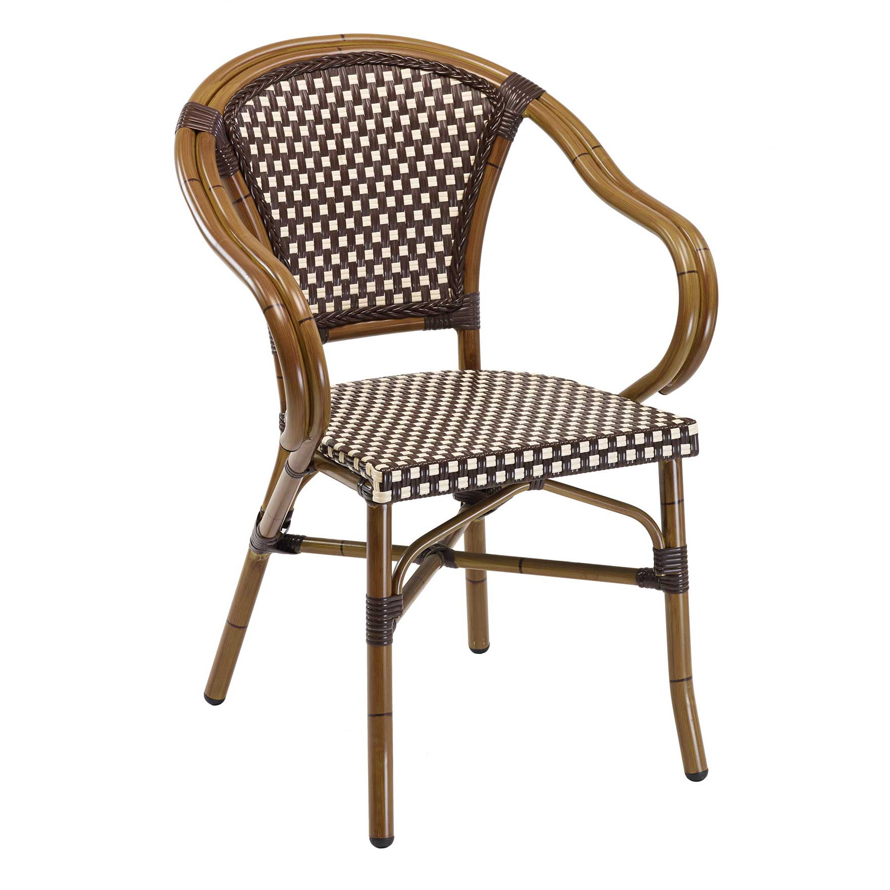 Panama Bamboo Chocolate Stacking Chair