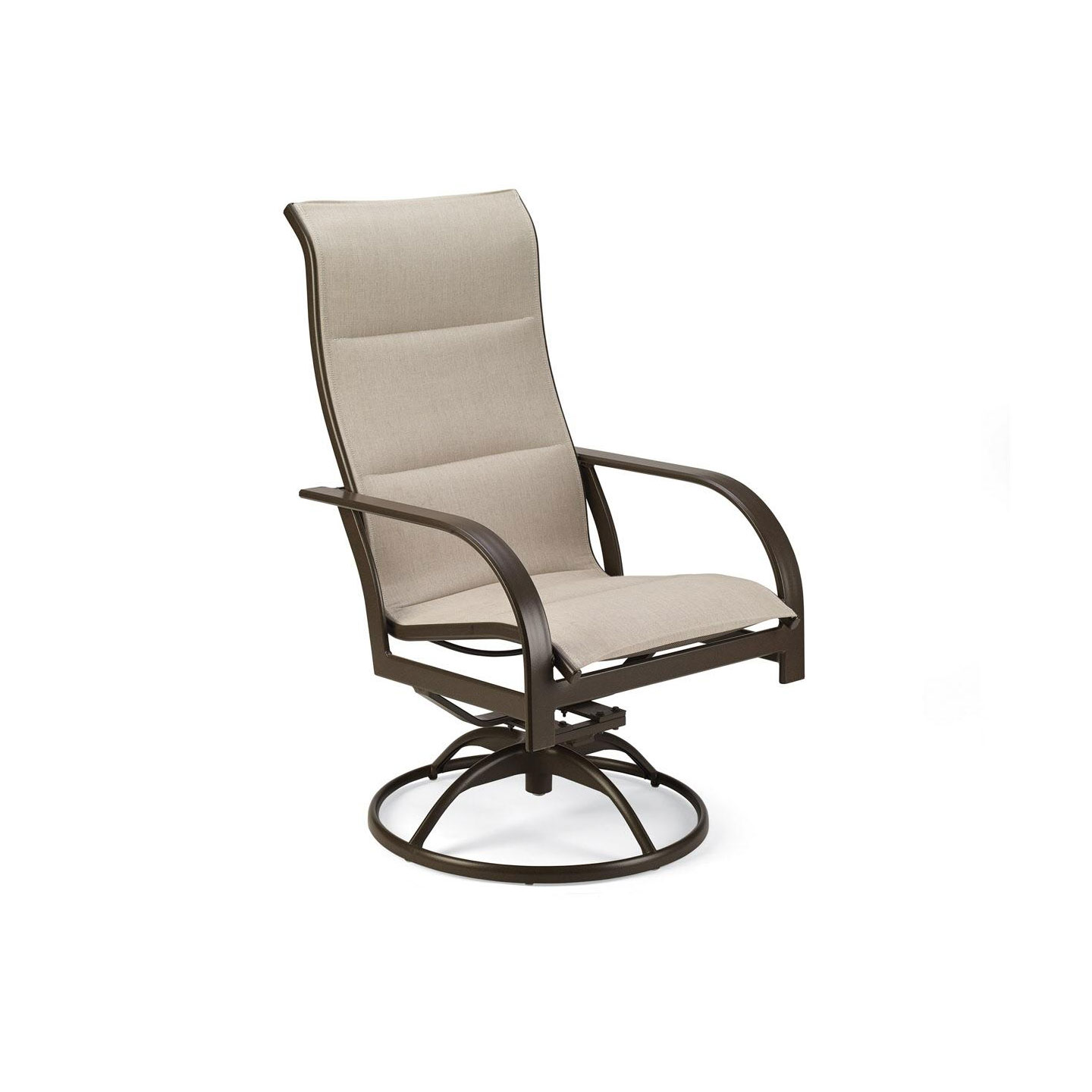 Key West Padded Sling Swivel Chair
