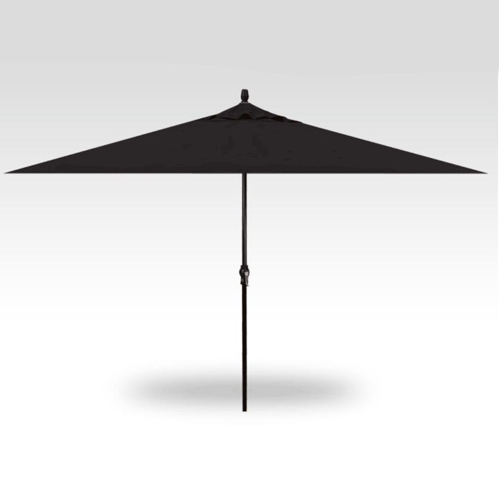 8x11 Rectangle Market Umbrella - Black