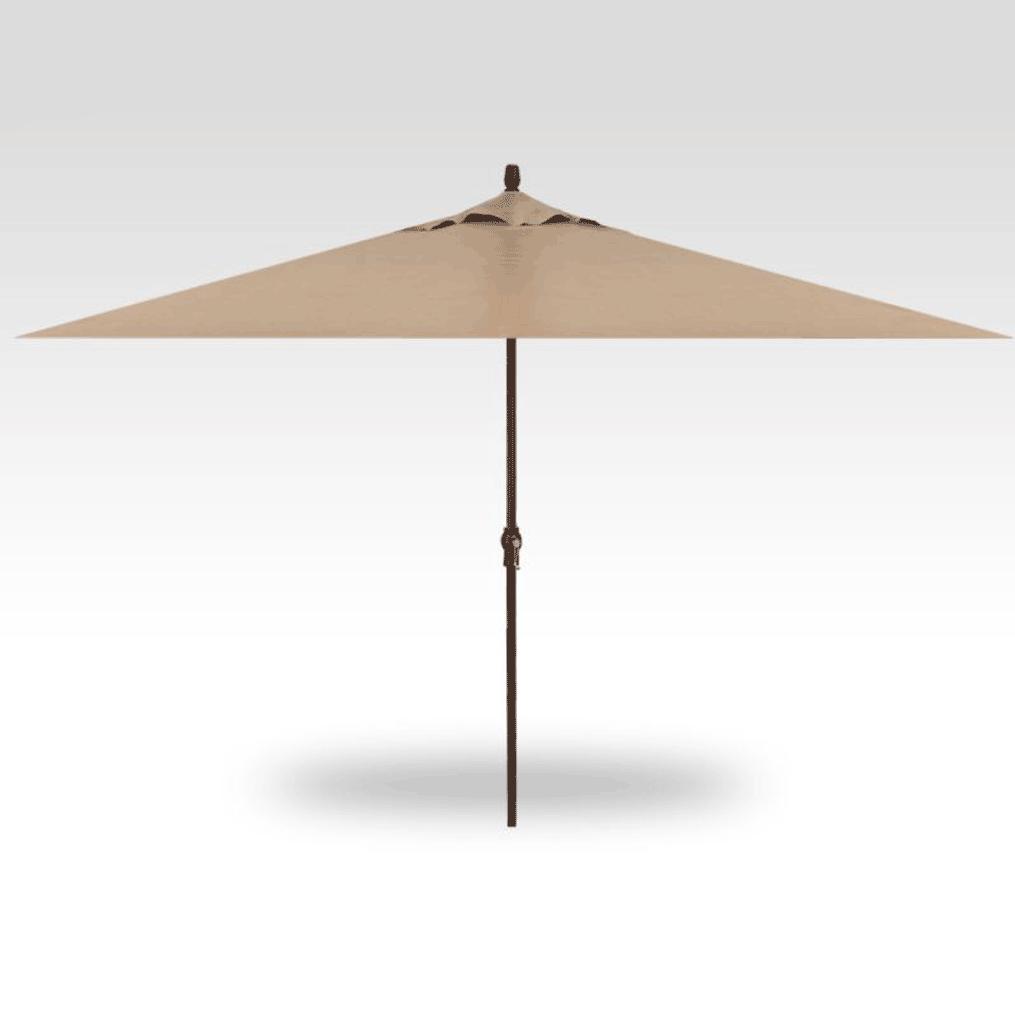 11' Rectangle Market Umbrella - Heather Beige