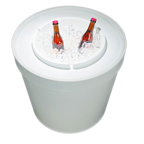 Ice Bin Side Table - White