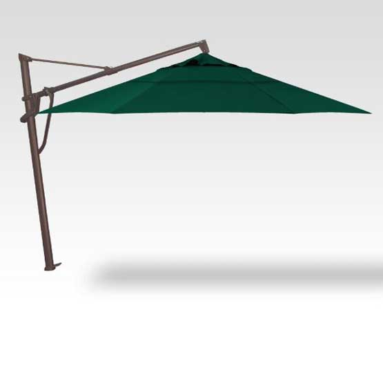 AKZ 13' Plus Starlux Octagon Umbrella - Forest Green