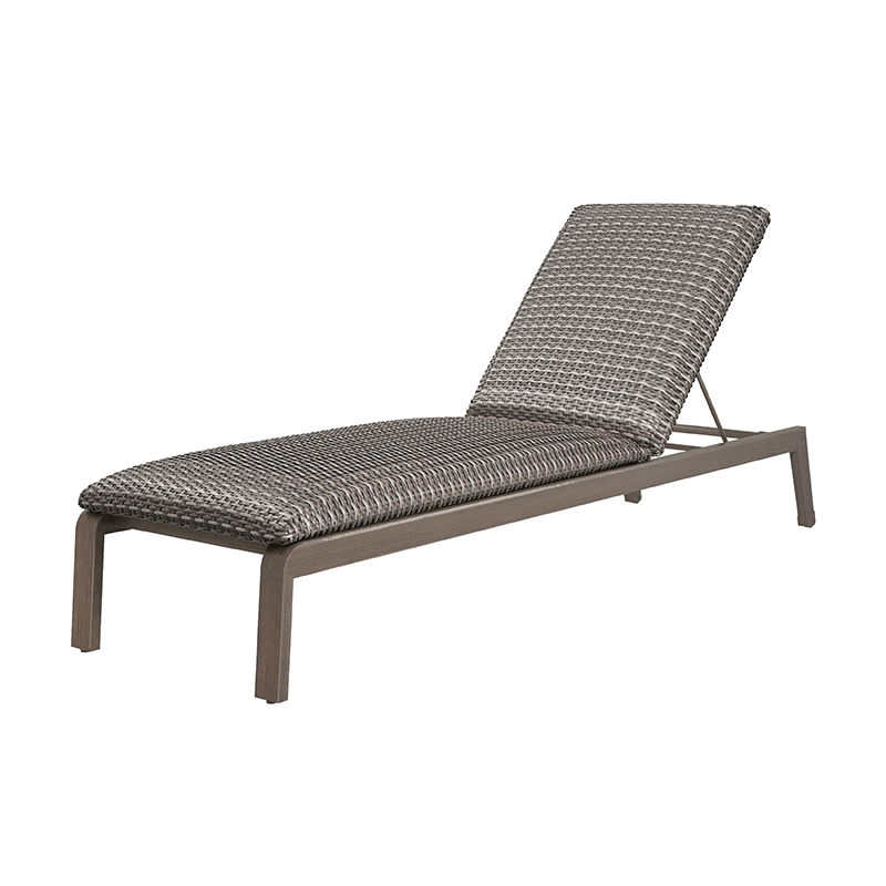 Canton Woven Padded Adjustable Chaise - Hickory