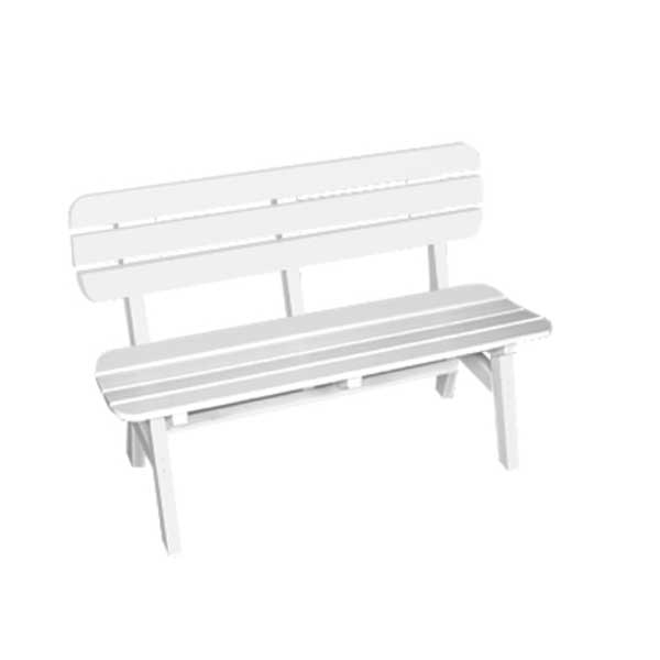 Portsmouth 4' Bench - White