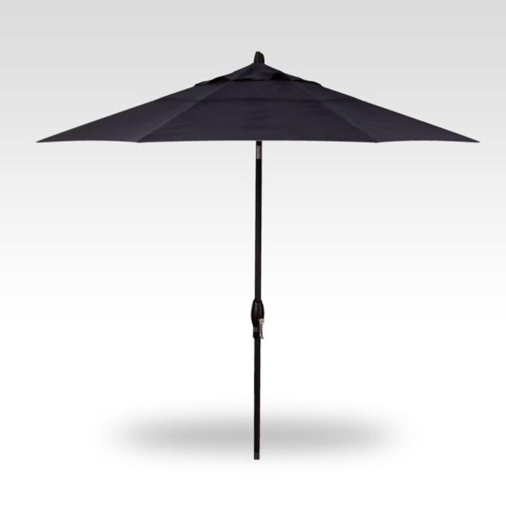 9' Auto Tilt Market Umbrella - Navy
