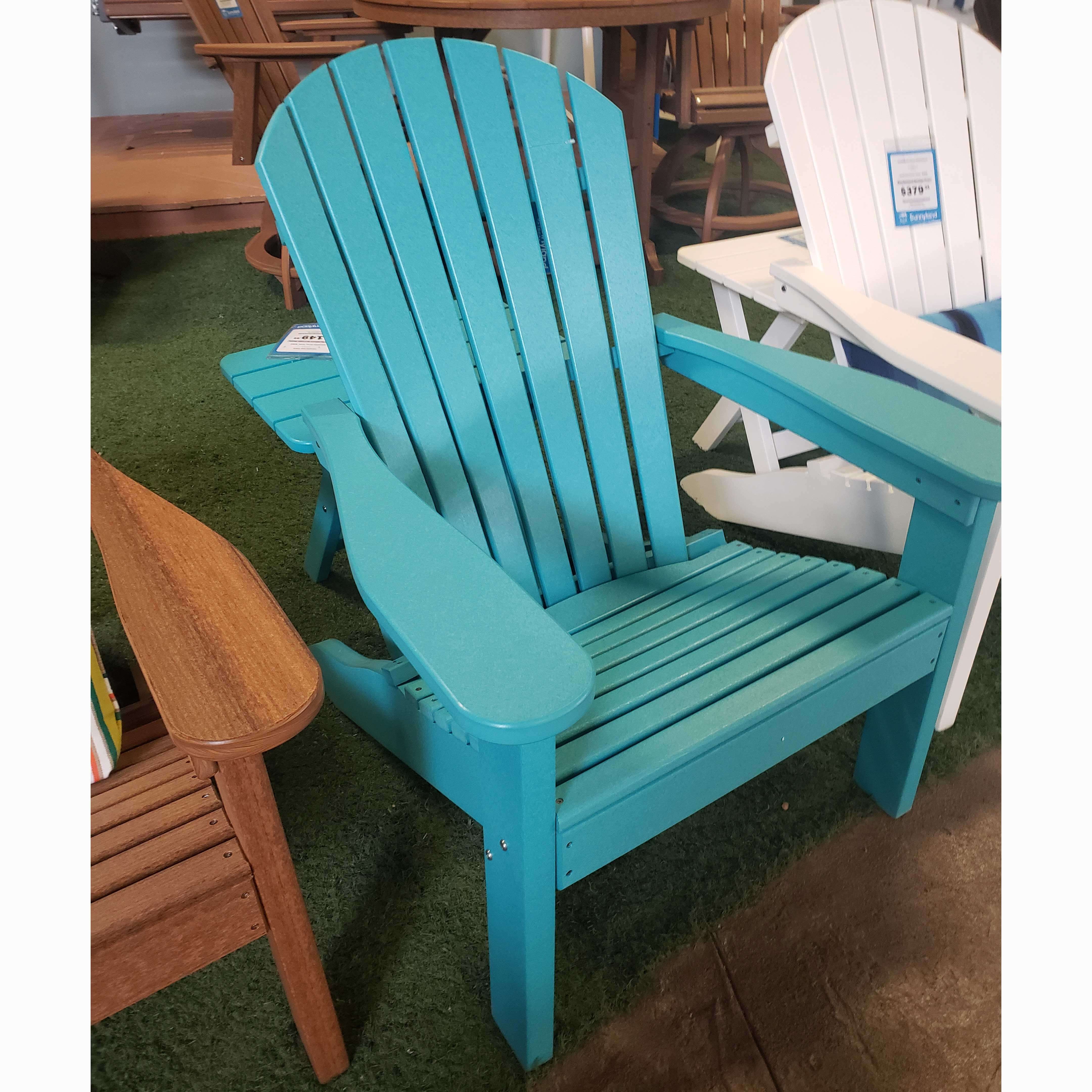 Aruba Blue Adirondack Chair