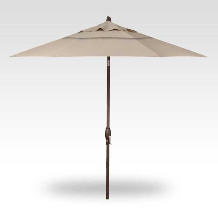 9' Auto Tilt Market Umbrella - Antique Beige