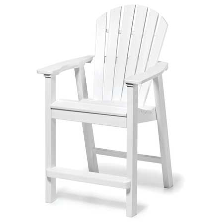 Adirondack Shell Back Balcony Chair - White