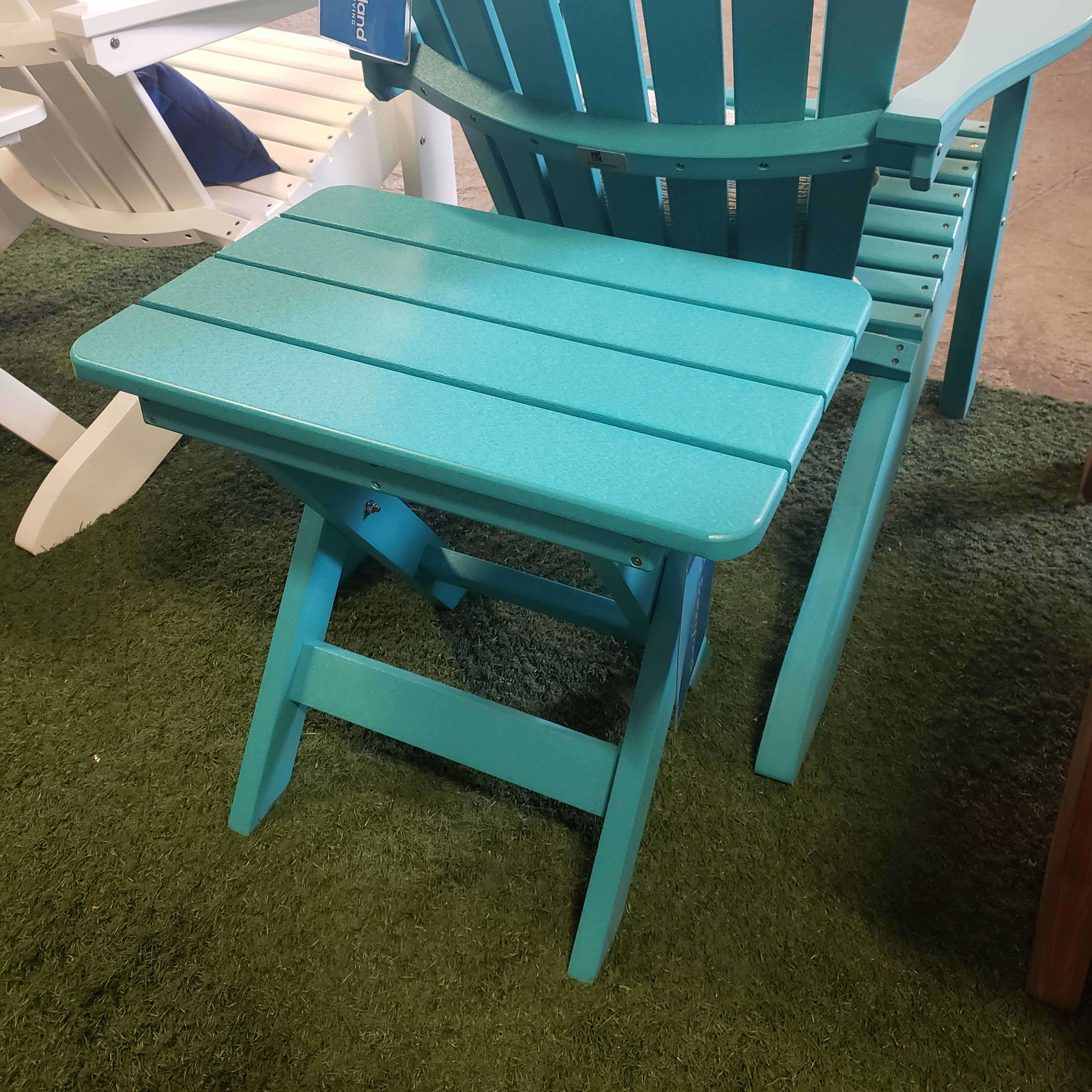 Aruba Blue Folding End Table
