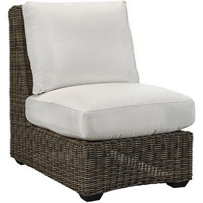 Oasis Cushion Armless Chair - Vesper Pebble
