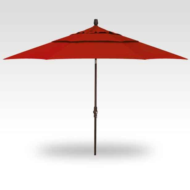 11' Collar Tilt Market Umbrella - Jockey Red