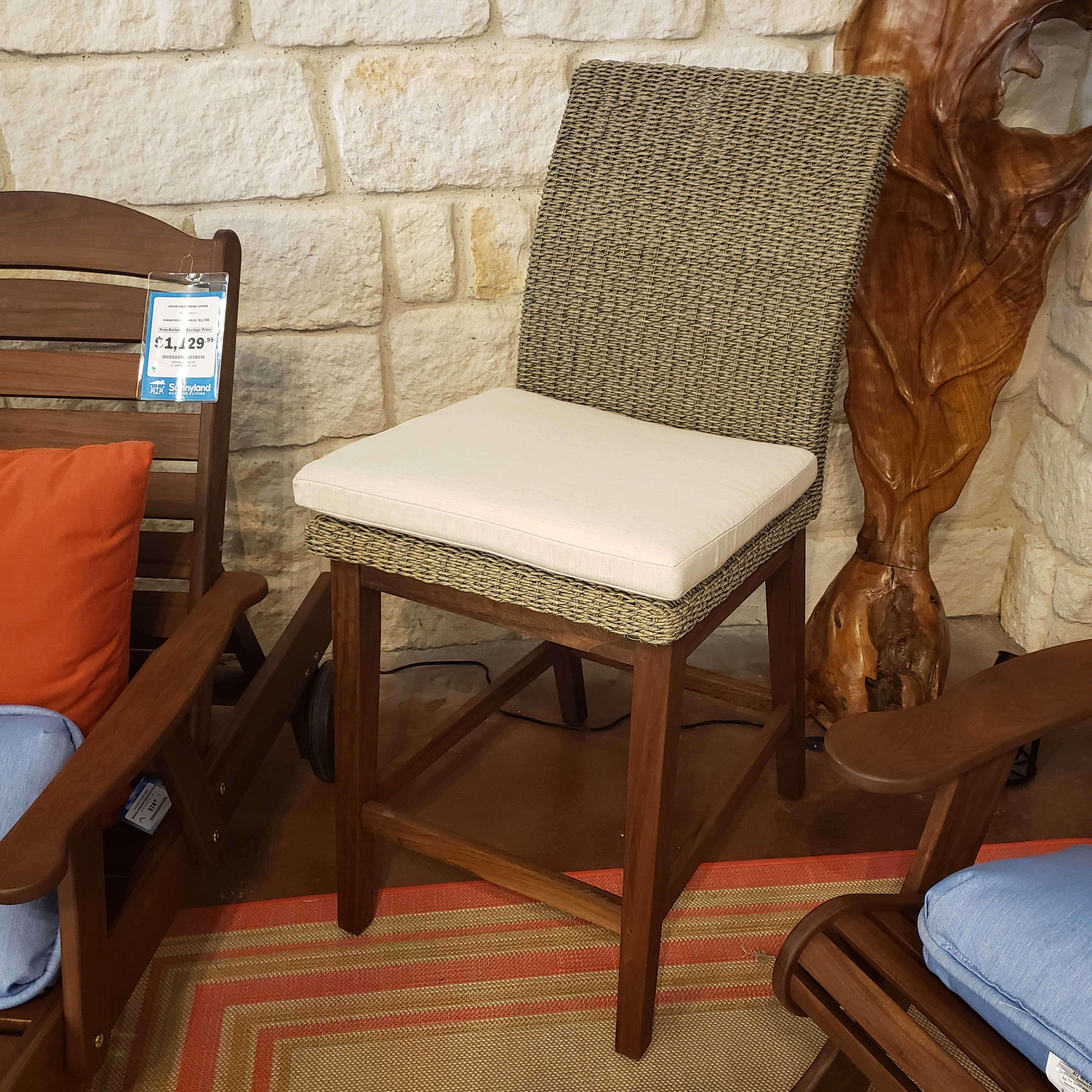 Coral Cushion Counter Stool