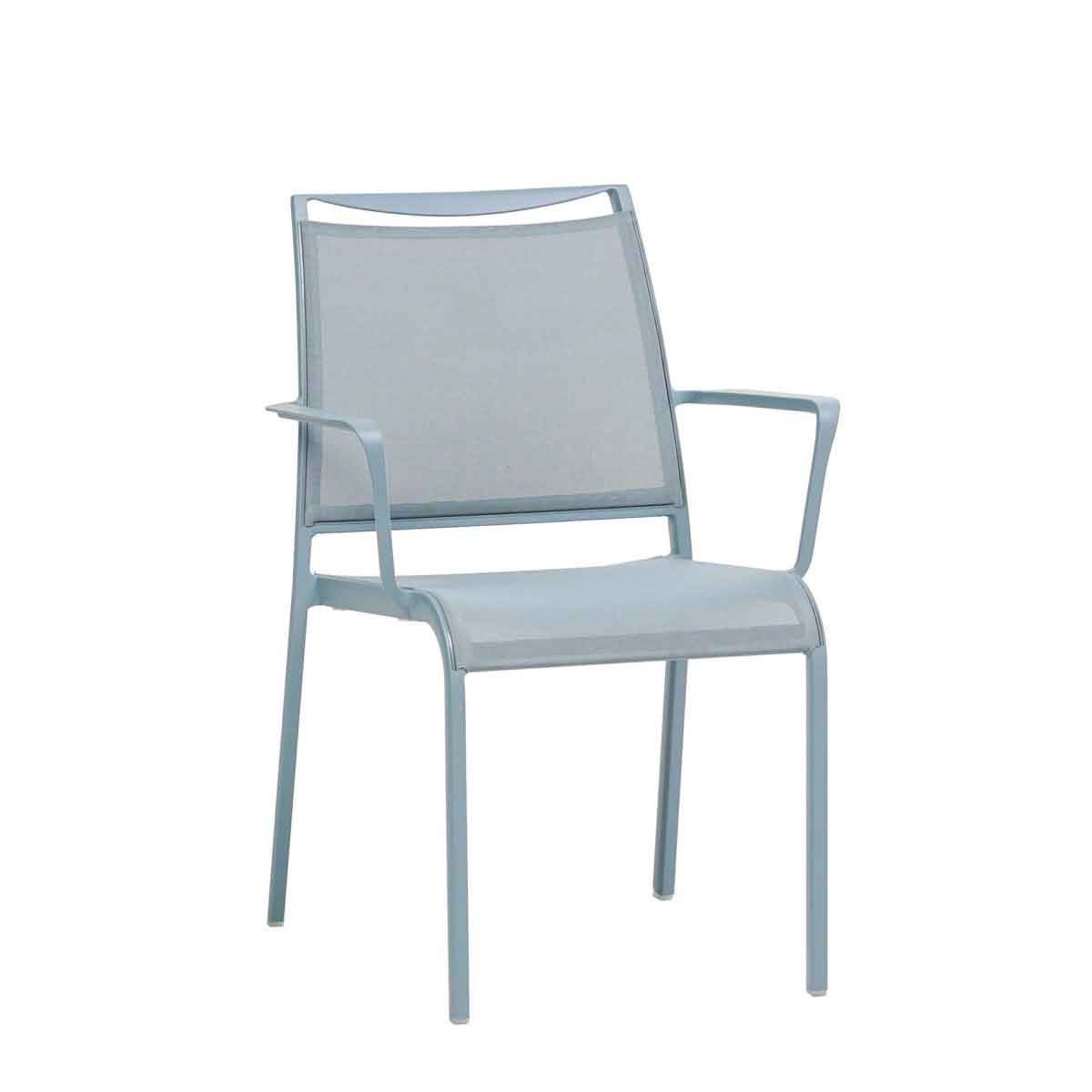 Como Sling Dining Chair - Light Blue