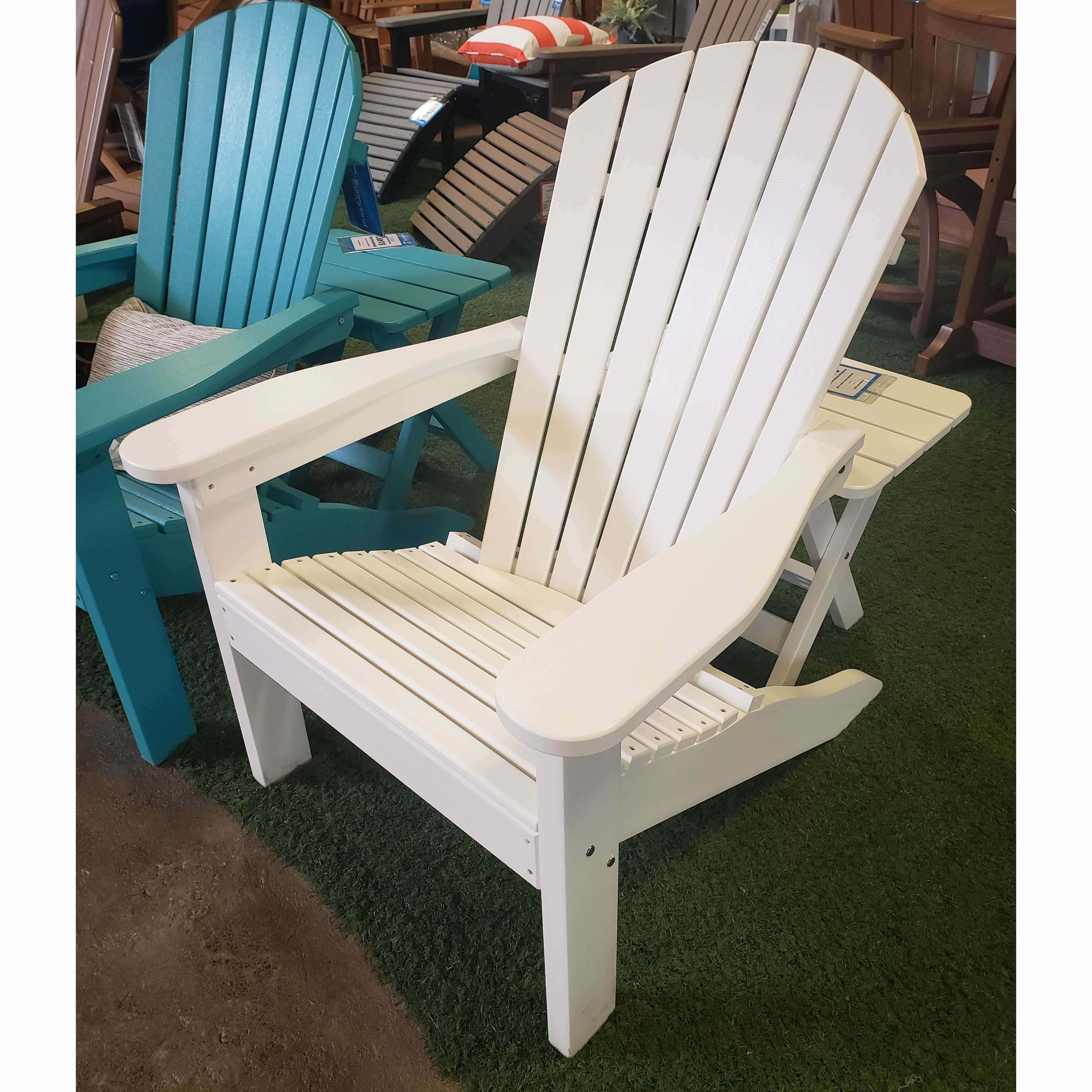 White Adirondack Chair Comfo-Back