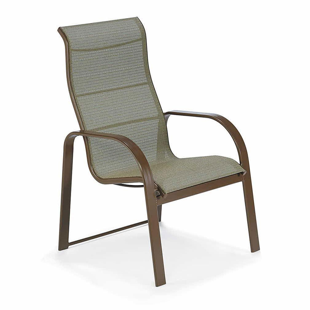 Seagrove II Sling Highback Dining Chair - Stack Stone