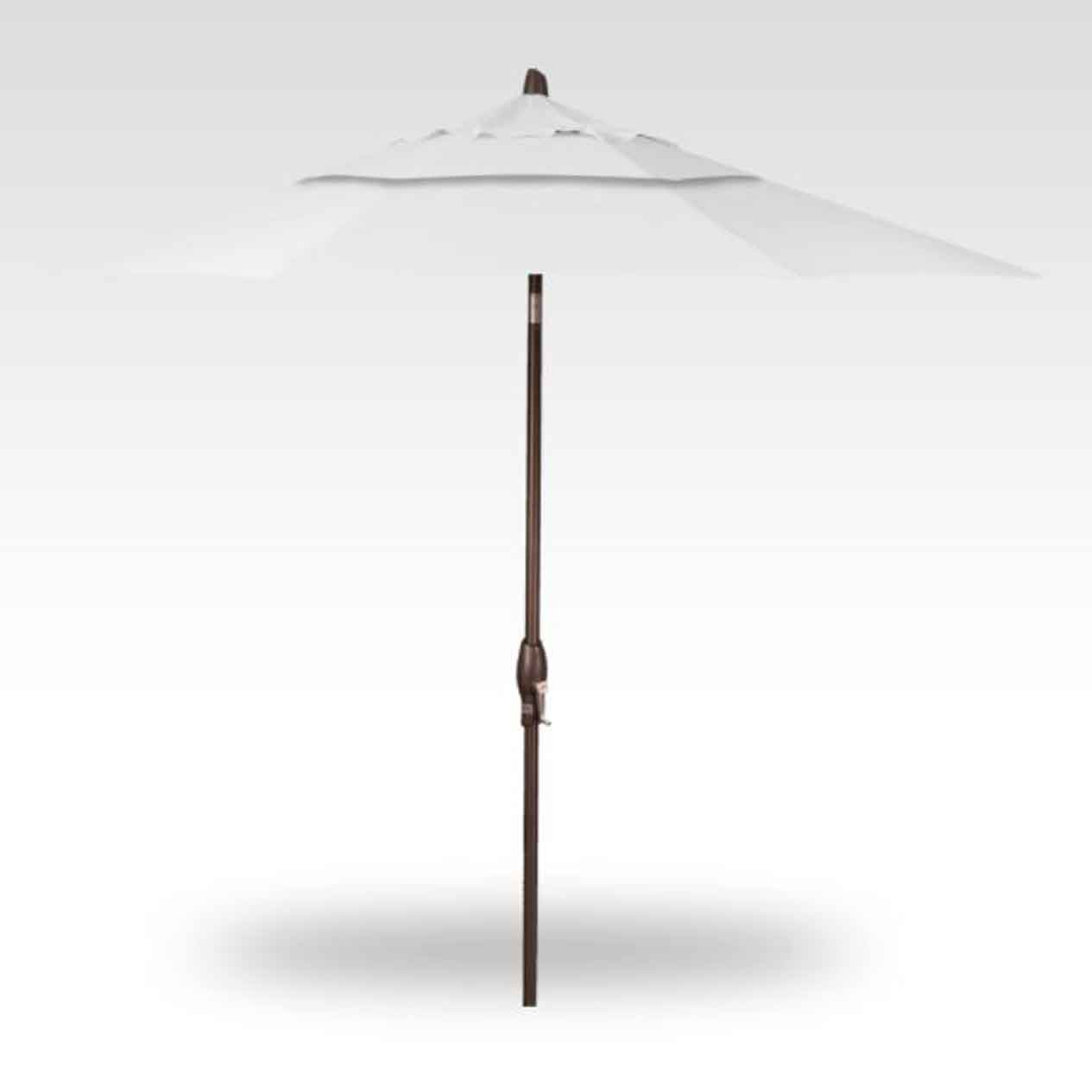9' Auto Tilt Market Umbrella - Canvas Natural