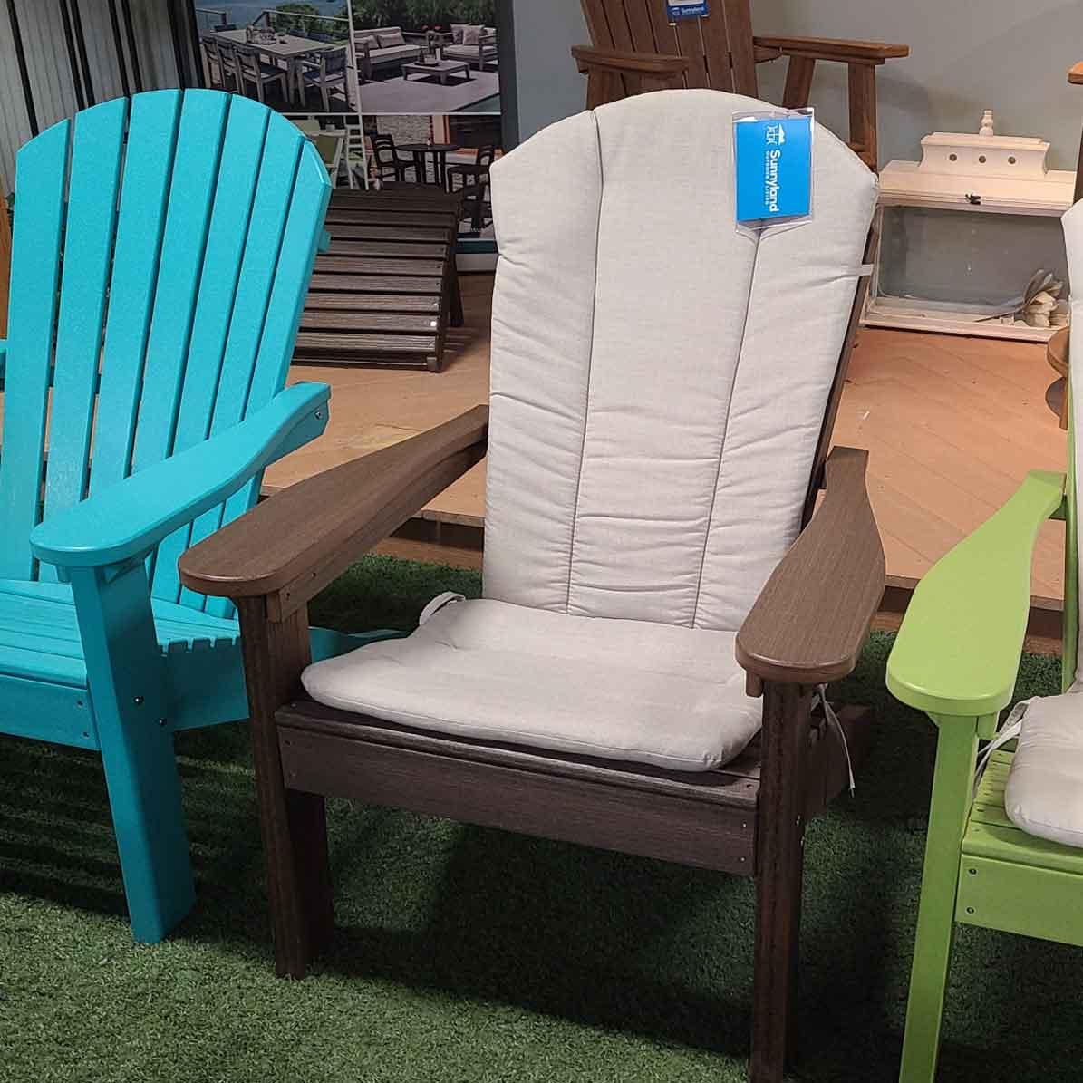 Adirondack Chair Cushion - Cast Silver