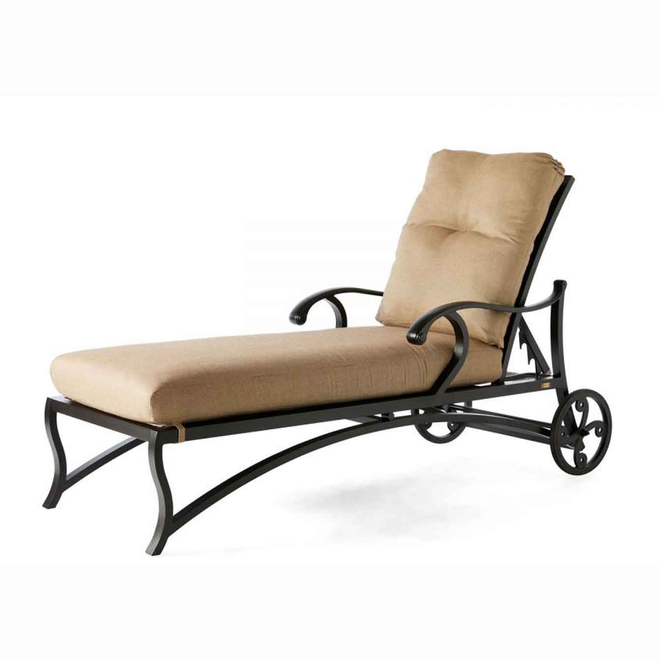 Volare Cushion Adjustable Chaise - Rochelle Pebble