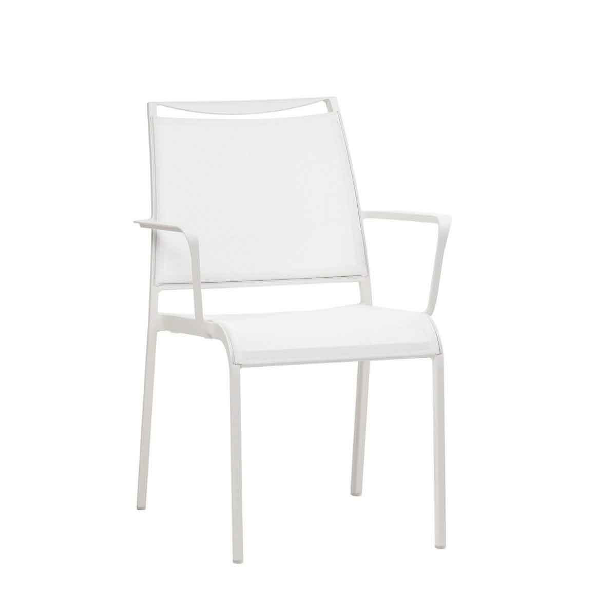 Como Sling Dining Chair - White