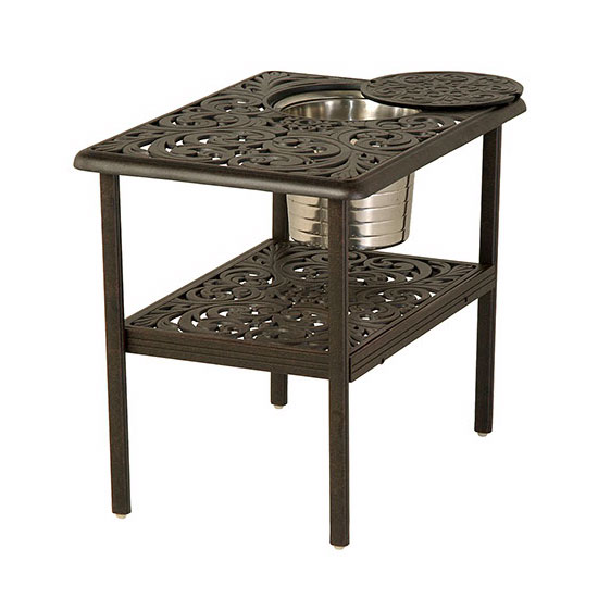 Chateau Rectangle Ice Bucket Table