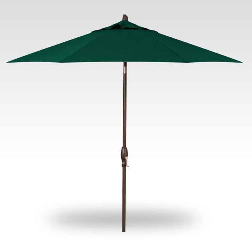 9' Auto Tilt Market Umbrella - Forrest Green