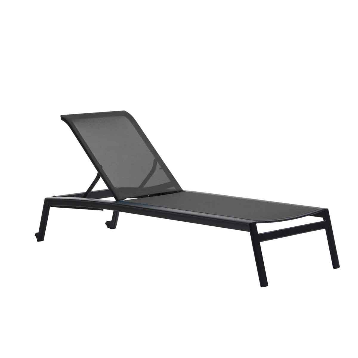 Lyon Sling Armless Chaise - Black