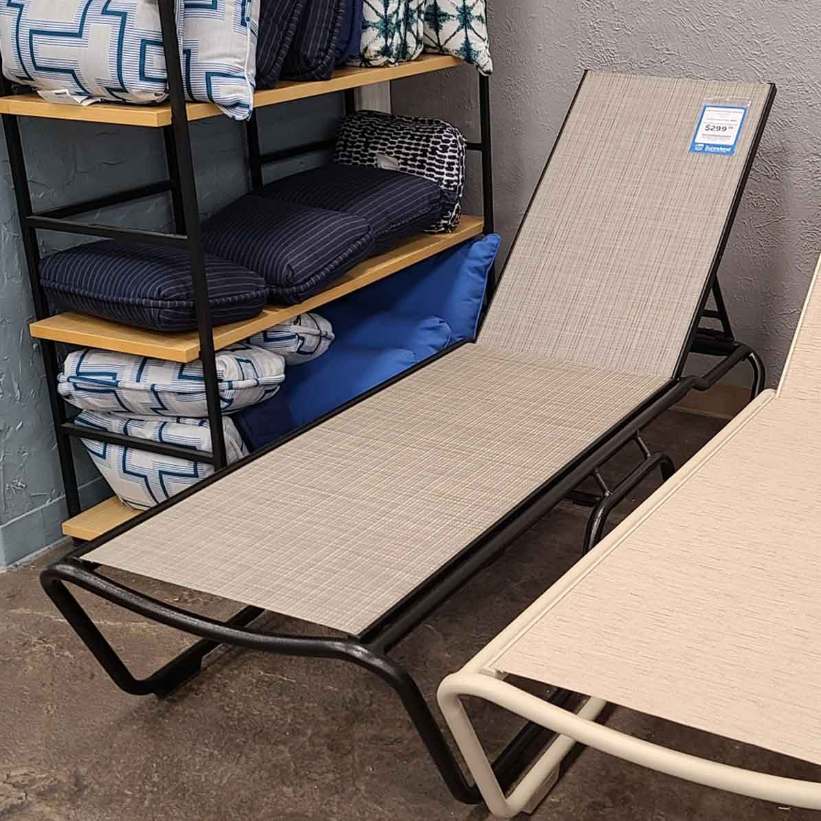 Sling Armless Adjustable Chaise - Boulder Stripe