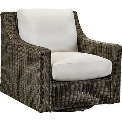 Oasis Cushion Club Swivel Glider Chair - Vesper Pebble