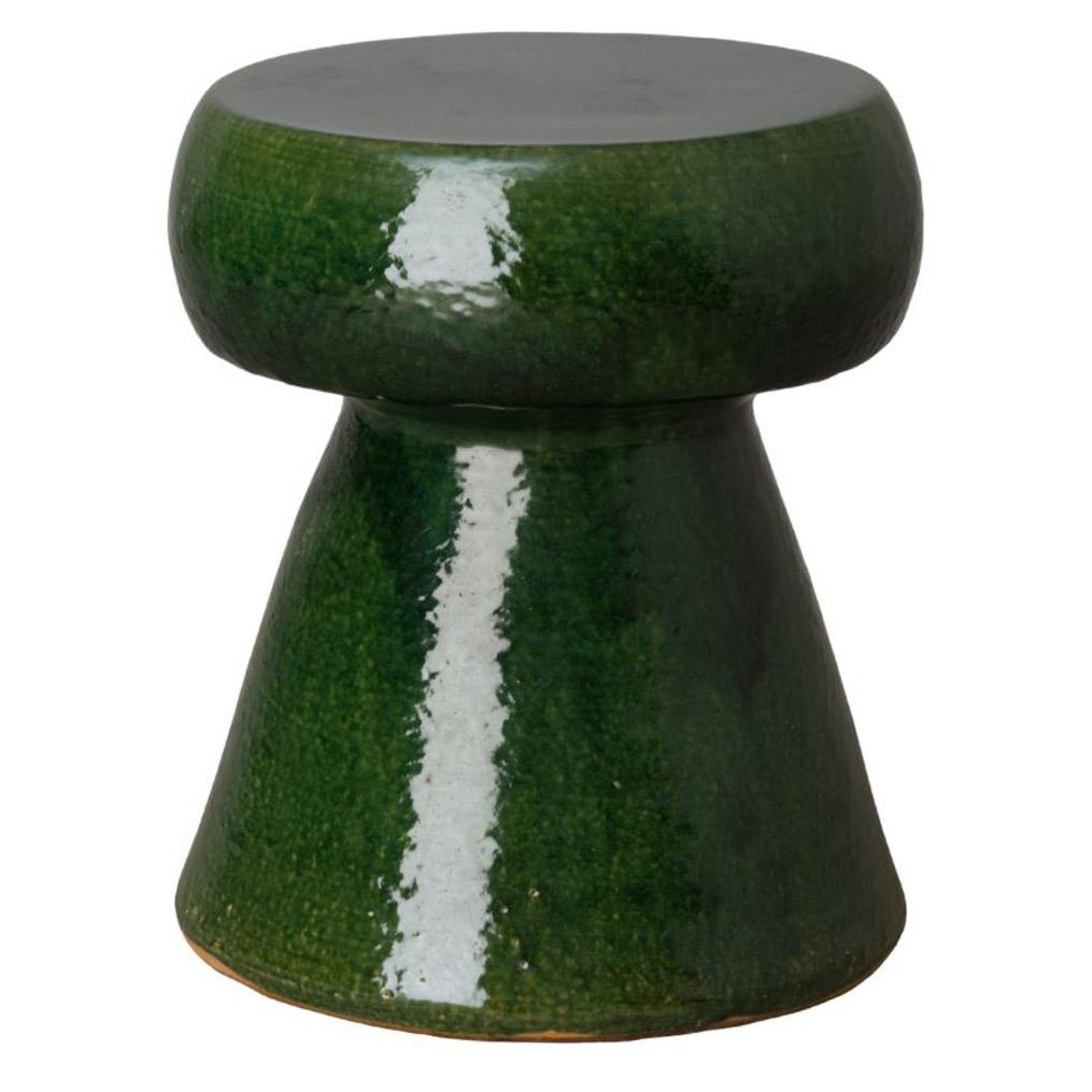 Green Portabello Stool