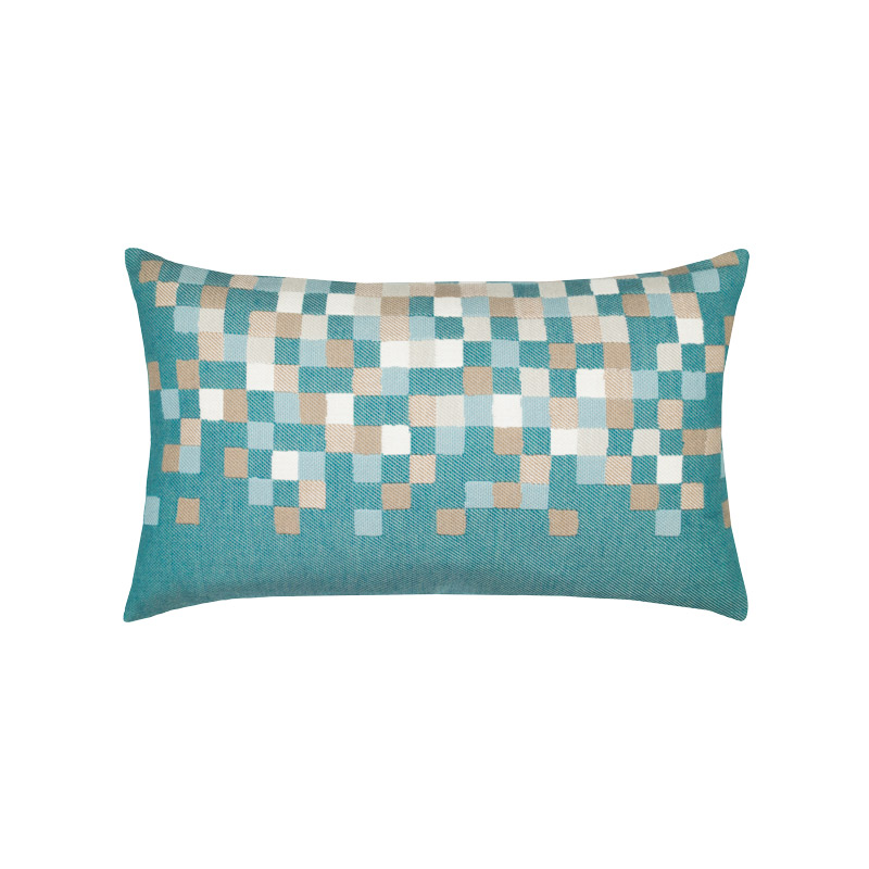Aqua Check Lumbar Pillow