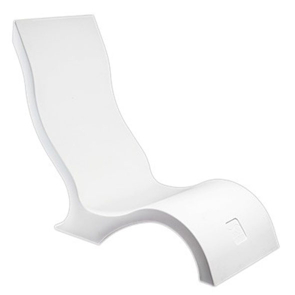 Ledge Lounger In-Pool Chair - White